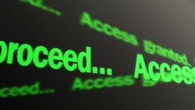 存取授予了 请进行 绿色文本赛跑,给允许 LED标志 向量例证