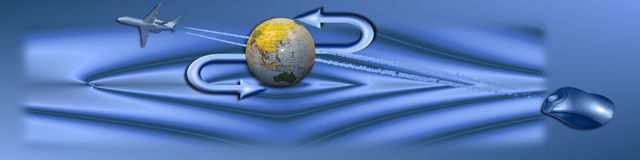 存取标头对世界 免版税图库摄影