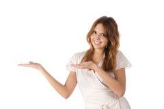 存在事情妇女年轻人的纵向 免版税库存图片