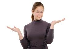 存在产品妇女年轻人的现有量藏品 免版税库存照片