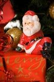 存在圣诞老人开会 免版税库存照片