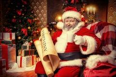 存在圣诞老人 库存图片