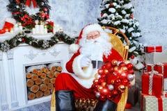 存在圣诞老人 免版税库存图片
