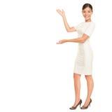 存在的商业显示妇女 免版税库存图片