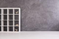 存放和炫耀您的模型的完善的棚架单位 库存图片