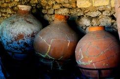 存放的产品Amphorae 免版税库存图片
