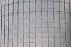 存放的谷物丰收现代筒仓 库存照片