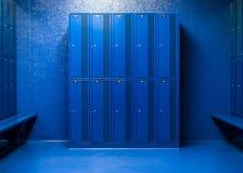 存放项目的学校衣物柜 免版税库存图片