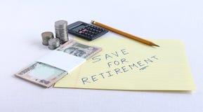 存金钱为退休概念 图库摄影