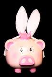 存钱罐佩带的室内天线 免版税库存照片