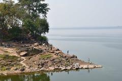 水存贮水坝 库存照片