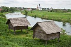 存贮棚子19世纪在俄罗斯 免版税库存照片