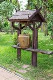 水存贮的木桶 库存图片