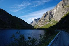 孙达尔在挪威 库存照片