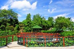 孙逸仙公园,澳门,中国 免版税库存照片