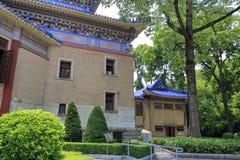 孙逸仙(中山)纪念堂的边在广州,瓷 库存照片