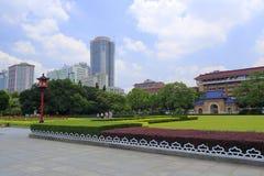 孙逸仙(中山)纪念堂草坪和正方形在广州,瓷 库存照片