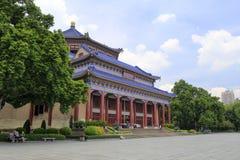 孙逸仙(中山)纪念堂在广州,瓷 图库摄影