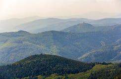 孚日省山看法在阿尔萨斯 图库摄影