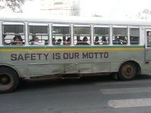 孟买公共汽车 库存照片