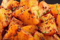 孟买土豆咖喱,关闭 库存照片