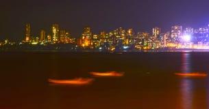 孟买在晚上 免版税图库摄影