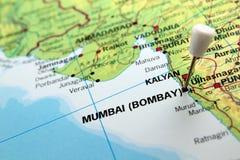 孟买地图 免版税库存照片