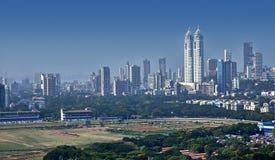 孟买地平线高的视图 免版税库存图片