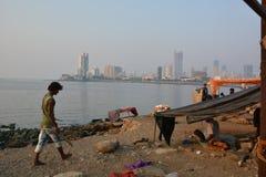 孟买对比 库存照片