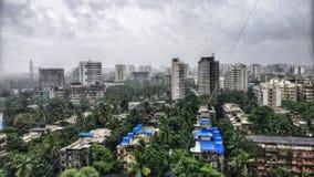 孟买市季风 免版税库存图片