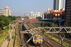 孟买市郊火车 免版税库存照片