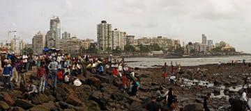 孟买海岸 免版税库存图片