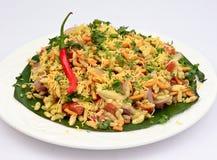 孟买Bhelpuri印地安街道食物 图库摄影