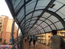 孟买skywalks 免版税库存照片