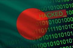 孟加拉国乱砍了国家安全 在财政和银行业务结构的Cyberattack 秘密信息偷窃  库存例证