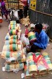 孟加拉国新年1422庆祝的卖主 免版税图库摄影