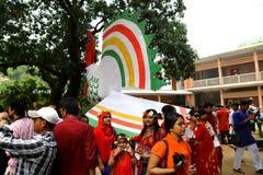 孟加拉国新年1422庆祝 免版税库存照片