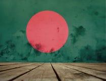 孟加拉国旗子纹理  免版税库存图片