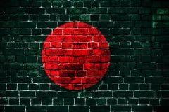 孟加拉国的国旗砖背景的 免版税图库摄影