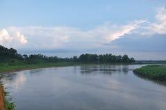 孟加拉国的美丽的河 免版税库存照片