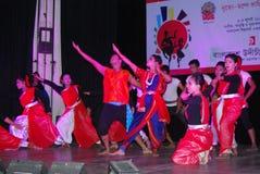 孟加拉国达卡市舞蹈  免版税图库摄影