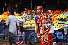 孟加拉国:街道视图 库存照片