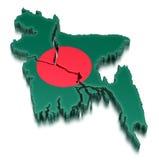 孟加拉国(包括的裁减路线) 免版税库存照片