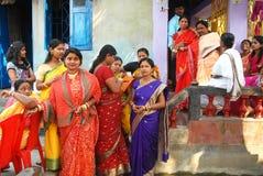 孟加拉婚姻仪式 免版税库存图片