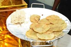 孟加拉婚礼食物 免版税库存照片