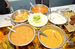 孟加拉婚礼食物 免版税库存图片