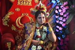 孟加拉新娘 免版税库存图片