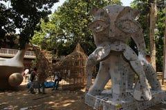 孟加拉新年1421 :达卡是欢乐心情 库存图片
