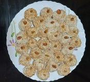 孟加拉甜盘 免版税库存照片