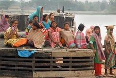 孟加拉砖厂西方的印度 图库摄影